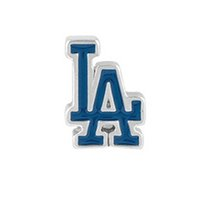 Wholesale Los Angeles Dodgers Lockets Charms Floating Charms Enamel High Quality Accessories Women Charms