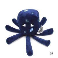 Aquatic Animals baby squids - Drop Shipping Minecraft Enderman Squid Ocelot Creeper Plush Soft Toy Multi Styles Baby Mooshroom Pig