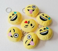 Wholesale Emoji Smiley keychains cute cartoon pendant car key chain CM size mix styles drop shipping