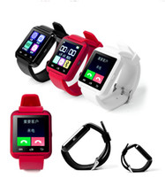 best email systems - Cheaper Smartphone Watch Wrist Watch Phone White Black And Red Best Smart Watches Support Android And IOS System Multiple Functions U8
