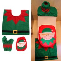 Wholesale Warm Toilet seat cover seat heated disposable Christmas Decoration New Happy Santa Snowman Toilet Seat Cover Home decoration