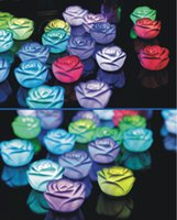 artificial flower for dress - Artificial rose flower led lighted rose flower for perfect dresses wedding decoration
