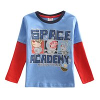 Wholesale Boys T shirt Kids Wear Long Sleeve Boy T shirt New Arrival Spring Autumn Shirt A4272