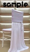 american vintage furniture - 2015 Sample For White Vintage Chair Sash for Weddings Chiffon Wedding Decorations Chair Covers Chair Sashes Wedding Accessories c14