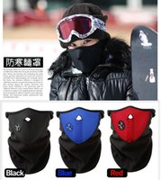 Wholesale Cycling Face Mask Outdoor Cycling Mask Windproof Cool Ride Bike Mask Winter Warm Dust Proof Anti Fog Half Face Mask Motorcycle Skiing