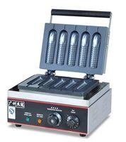 Wholesale high quality electirc waffle maker Corn Crisp Maker with timer five Waffle maker V V waffle machine