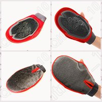 Wholesale 500PCS MAA07 Cat Pet Dog Fur Grooming Groom Glove Mitt Brush Comb Massage Bath Tidy Tool