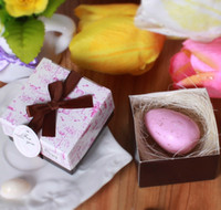 animal baby shower favors - In Stock Pink Bird Eggs Soap Creative Wedding Favors Mini Scented Soap Baby Shower Soaps Handmade Soap Guest Gifts Box