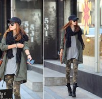 Wholesale 2016 NEW Harajuku Style Camouflage Leggings Europe Sexy Printing Thin Ankle Length Women s Clothing Apparel