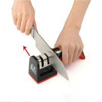 Wholesale Two Stages Diamond Ceramic Kitchen Knife Sharpener Sharpening Stone Household Knife Sharpener Kitchen Knives Tools DHL