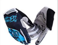 Wholesale Bat Fox Cycling Running Sports Men Red Blue Green Racing Motor Cycling Gloves Full Finger