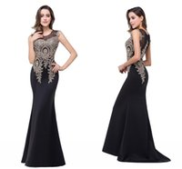 Wholesale Real Photo Sexy Sheer Formal Mermaid Dresses Evening Wear Sequins Beaded Backless Sweep Train Long Pageant Prom Gowns BZP0789
