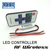 wireless rf remote control - LED strip light controller key RF wireless remote control brightness adjustable V V power supply A output DHL Free