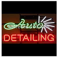 auto glass advertising - Hot Neon sign AUTO DETAILING neon sign handicrafted real glass custom neon sign bar lights neon lamp advertising quot quot