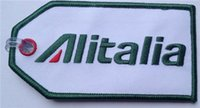 aviation fabric - Personalise Alitalia Landscape Aviation Embroidery Luggage Tag With Transparent Strap per