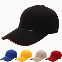 animal bone blanks - Durable Top New Sport Blank Curved Solid Color Velcro Adjustable Baseball Cap Bone Masculino Snapback Casquette Gorras Caps