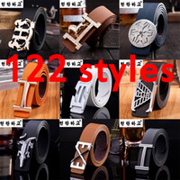 belt wholesalers - 122 styles designer belts for men unisex leather waist belt buckle men s belt strap hot sale high quality