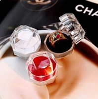 Wholesale 200pcs Rings Box Jewelry clear Acrylic cheap Boxes wedding gift box ring stud dust plug box