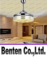 ceiling fan remote control - 42 quot ceiling LED pendant fan invisible cooling fan invisible fan LED lighting remote control function color change LED ceiling fan LLFA5109F