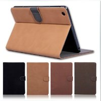 Wholesale New Vintage Retro Magnetic Flip PU Leather Case for iPad iPad Air case with Stand Colors