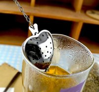 Wholesale quot Tea Time quot Convenience Fine Heart Shaped Tea Infuser Spoon Stainless Steel Tea Infuser Spoon Strainer Steeper Handle Shower