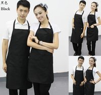 Wholesale hot sale mulit color CM polyester classic design work apron kitchen apron with pocket couples apron