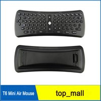 Wholesale Air Mouse Wireless Keyboard T6 Mini Gyroscope Remote Control Combo for M8 MXQ CS918 MXIII Android TV Box Media Player PC DHL free