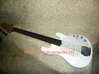 Blanco <b>Music Man Stingray</b> 5 Bajo eléctrico de palisandro 9V pastilla activa guitarras al por mayor