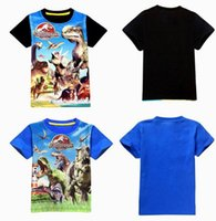 baby girl tees - 2015 DHL summer Jurassic World dinosaur children kids boys girls t shirt cotton children baby boys shirts tops tees short sleeve kids shirts