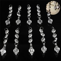 Wholesale New Arrival Clear Chandelier Acrylic Lamp Prisms Hanging Drops Pendant Decor order lt no track