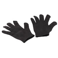 Wholesale 1 Pair Black Stainless Steel Wire Resistance Gloves Working Protective Elbow Safety Gloves Cut Resistant Anti Abrasion Gloves