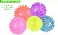 Cheap 2015 24pcs lots Make sound rubber color changing light up bouncy ball led flashing toy led flashing puffer ball Massage ball