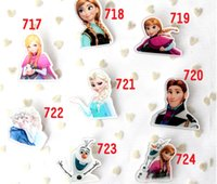 Wholesale Hot Sale Frozen Acrylic Badge Pin Hot Elsa Anna Princess Olfa Cartoon Kids Characters Fashion Pin Children Brooches Styles
