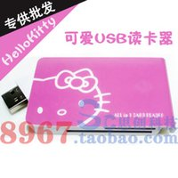 Wholesale Computer accessories hellokitty usb multifunctional card reader universal card reader