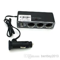 Wholesale Hot Car power converters A three cigarette lighter with USB charging port yituo three conversion distributor
