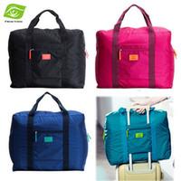 Wholesale 1PC Waterproof Nylon Folding Travel Duffle Bag Clothing Large Storage Bag Organizer Travel Handbag Women Luggage Travel Bags dandys