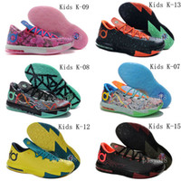 Wholesale Kids KD Basketball Shoes KDs New Arrival Cheap KD6 Kids Sneakers For Sale Colors