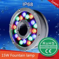 Wholesale dia mm AC24V W led underwater light led fountain light led pool light led swimming pool light pond lights