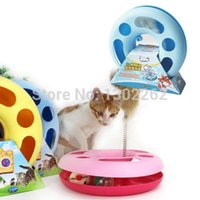 Wholesale Creative Pet Cat Toy Spring Mice Crazy Multifunctional Disk Play Activity