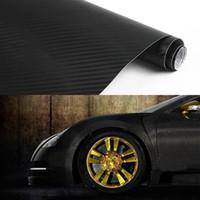 Wholesale 12 quot x50 quot cmx127cm d texture CARBON Fiber Wrap Vinyl Decal Car Sticker sheet White and black L014155
