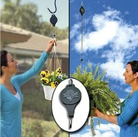 Wholesale 2016 Easy Reach Plant Pulley With Label Plant Hanger Garden Hook For Garden Flowerpot set Free DHL E500L