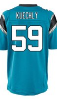 baby luke - Factory Outlet Men s Luke Kuechly Jersey Elite White Black Baby Blue Stitched Name And Number
