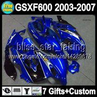 Wholesale 7gifts For SUZUKI KATANA GSXF600 GSXF factory blue blk BS6A34 GSX600F blue black Fairing