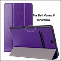 Wholesale Fashion Crazy Horse Design For Dell Venue quot PC Tab Premium PU Leather Folded Stand Folio Smart Back Cover Tablet Case