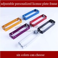 Wholesale 10pces motorcycle universal aluminum style adjustable rotating number plate License plate frame license plate holder six colors to choose
