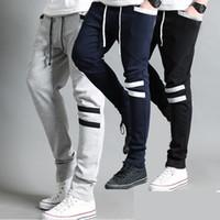 Wholesale Spring Autumn Men s Cool Harem Trousers Skinny Pants Legging Straight Fit Sports Sweat Pants casual pants