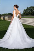 beauty words - Paragraphs Spring summer A Word The Beauty Of The Land V neck Backless Sleeveless Cheap Wedding Dress