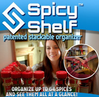 Wholesale SF TO USA Spicy Shelf Patented Spice Rack and Stackable Organizer Storage Holders Racker Holds Up to Spices