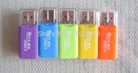 Wholesale 5000pcs USB T flash memory card reader micro SD card reader Mixed color