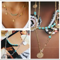 Wholesale multi layered necklaces new arrivals high quality statement necklaces for women gold and silver layered necklace girls necklace m00400